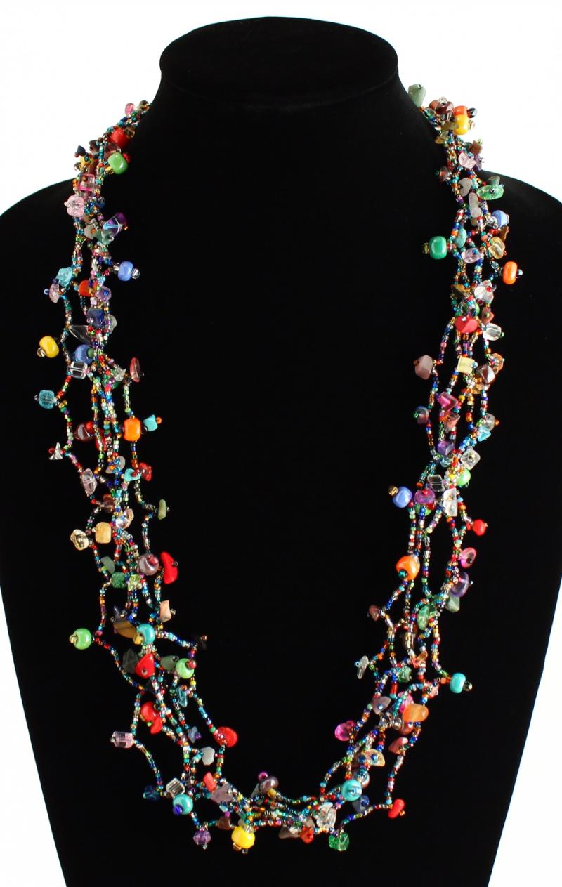 Guatemalan Multi Color Beaded Necklace