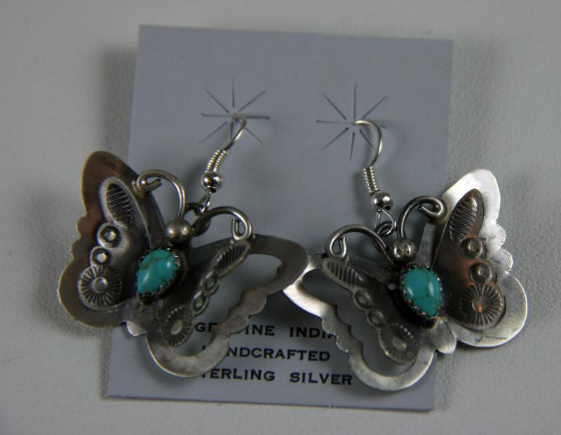 T. Yazzie Butterfly Hook Earrings