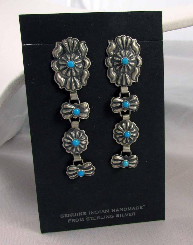 Navajo Sterling Concha Earrings