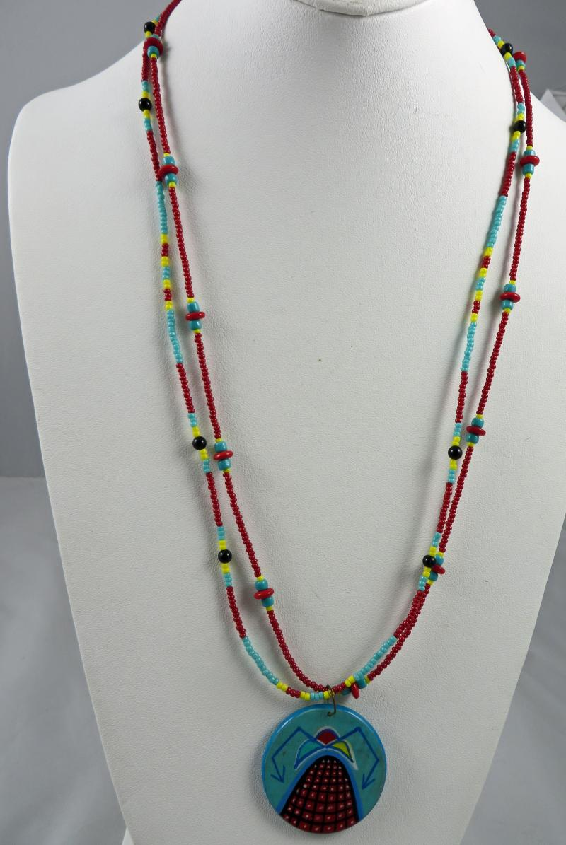Hopi Hand Painted Necklace