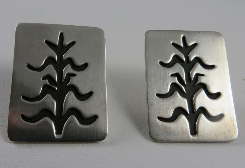 Sterling Silver Corn Earrings