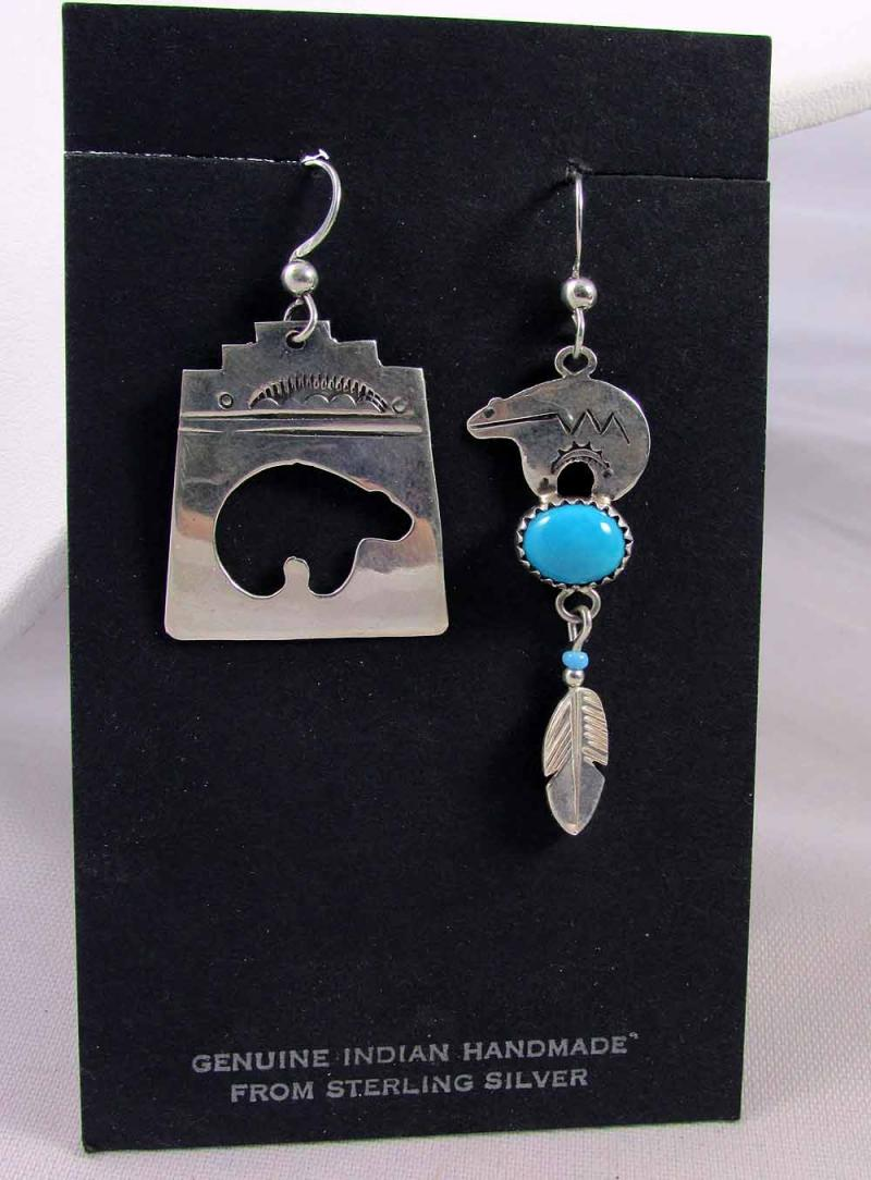 Navajo Bear Earrings